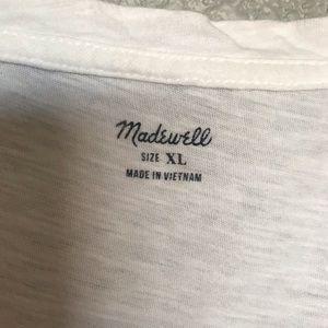 Madewell Tops - EUC Madewell Scoop Pocket Tank Tee White XL